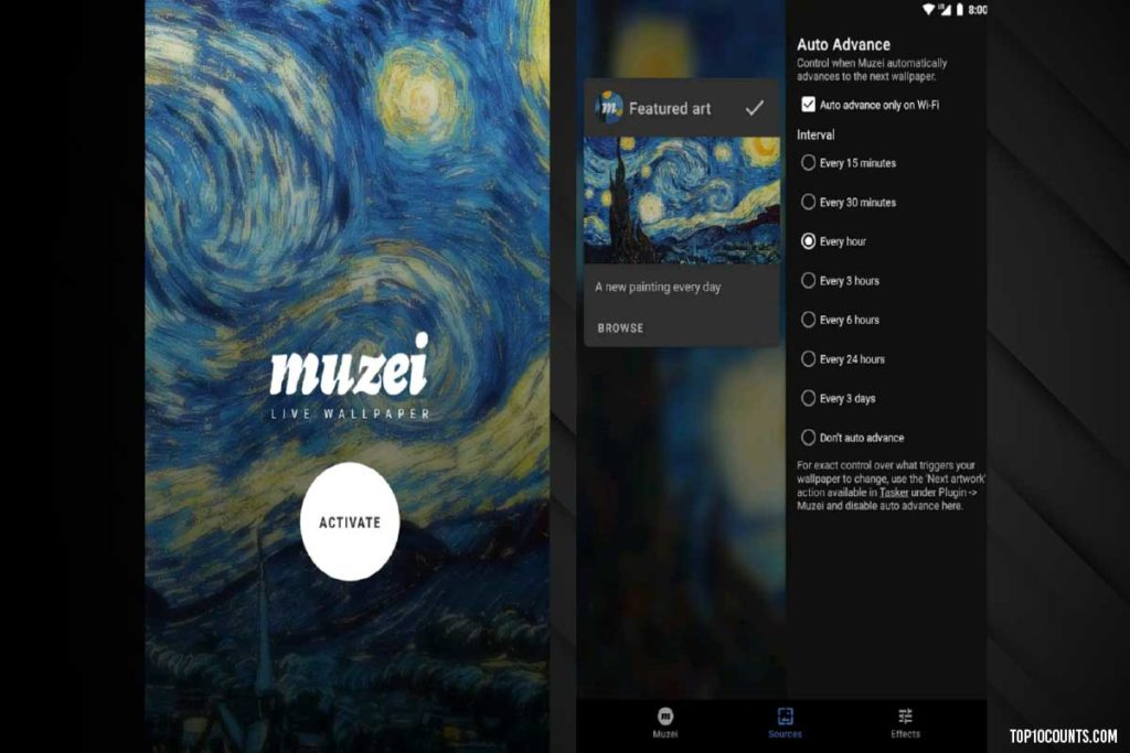 muzei - Mobile Customizing Apps For Android - top10counts