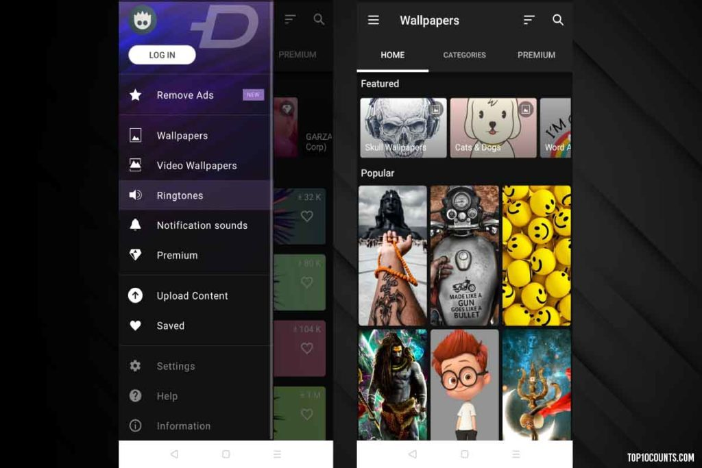 Zedge - Mobile Customizing Apps For Android - top10counts