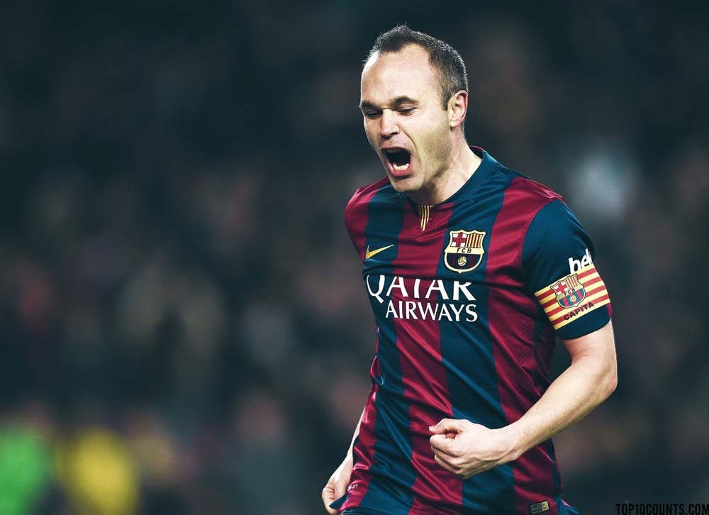 Andrés Iniesta - Richest Football players In The World - top10counts