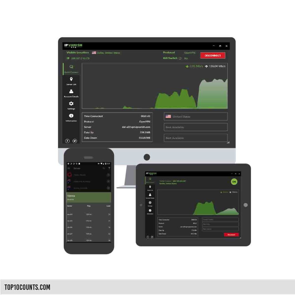 ipvanish - Best Free VPN For Mobile and PC - top10counts