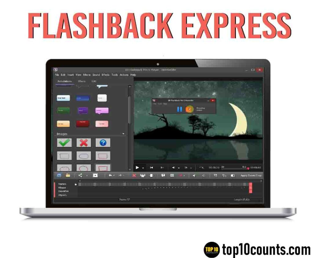 flashback express- Best Screen Recording Software for Windows - top10counts