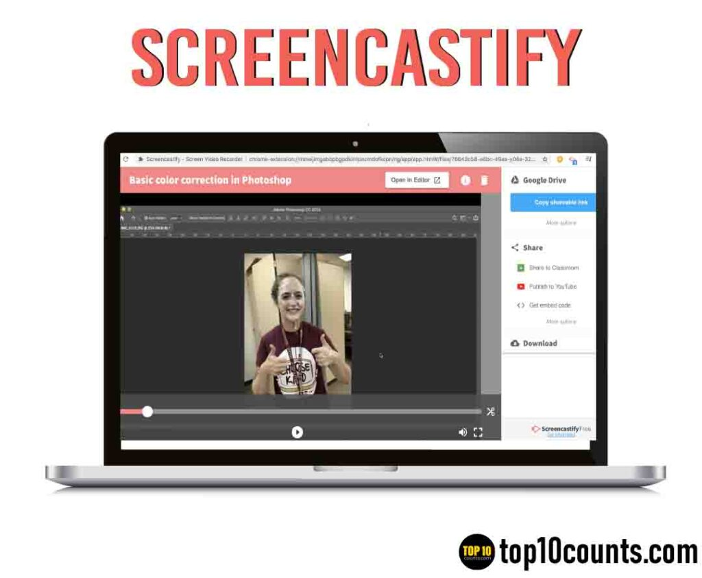 screencastify- Best Screen Recording Software for Windows - top10counts