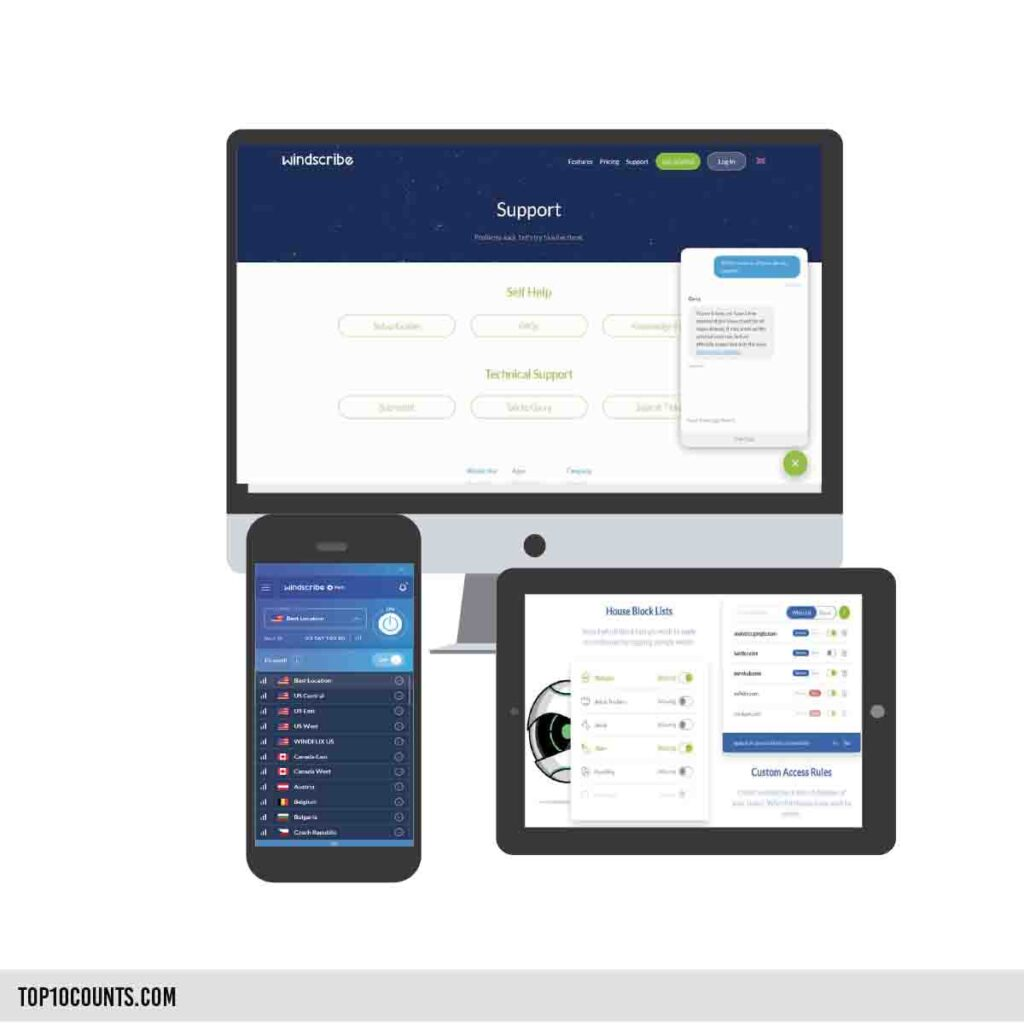 windsrcibe- Best Free VPN For Mobile and PC - top10counts