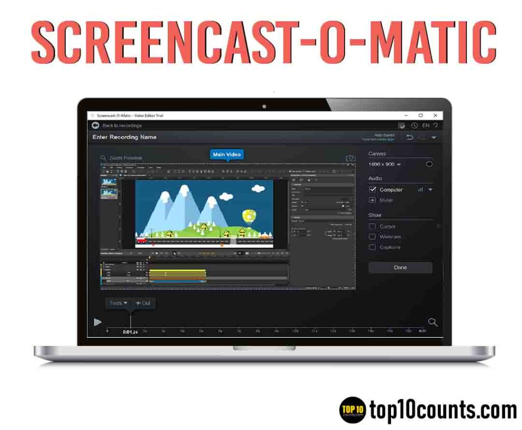 screenomatic- Best Screen Recording Software for Windows - top10counts
