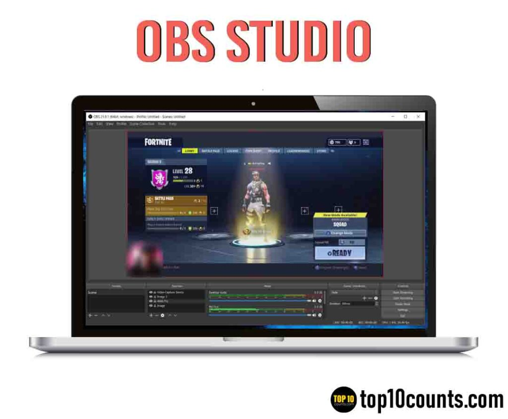 OBS Studio- Best Screen Recording Software for Windows - top10counts