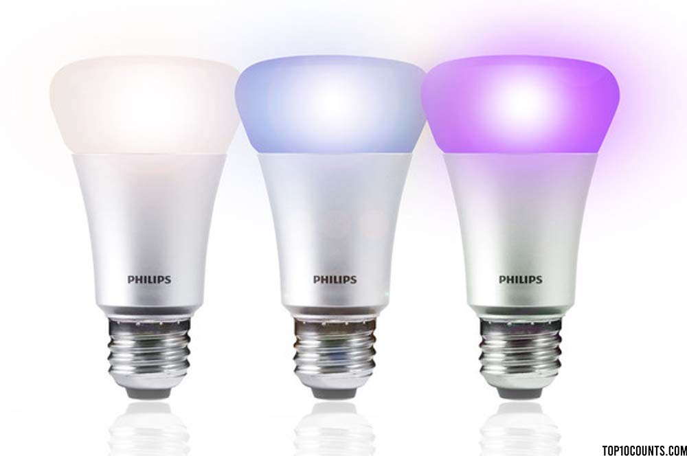 Philips Hue A19 LED bulbs - Best Google Home Accessories - top10counts