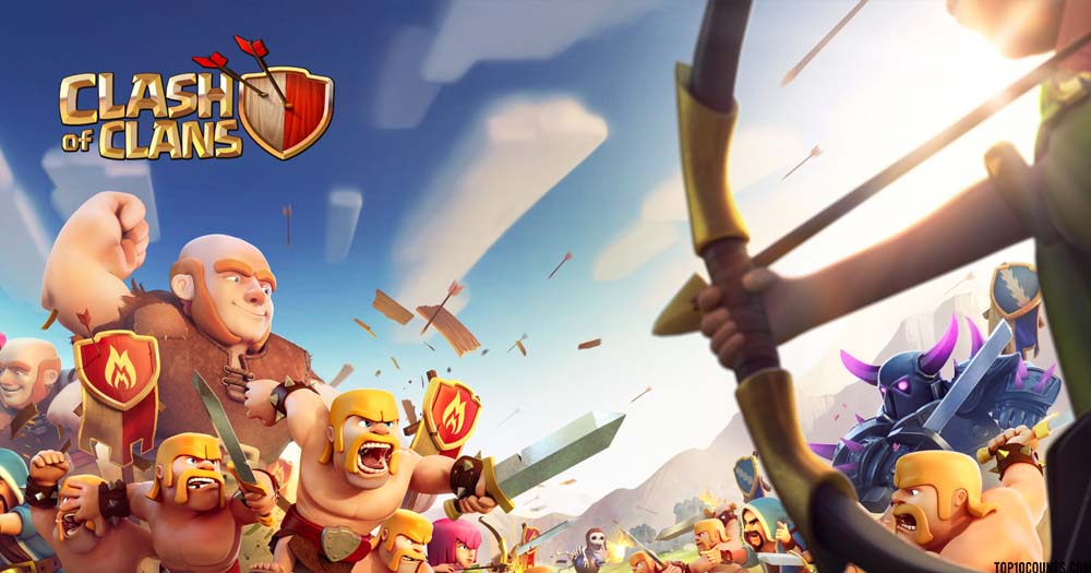 clash of clans - Top 10 Grossing Games On Play Store