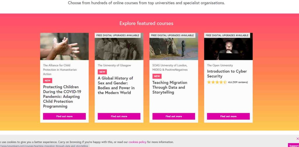FutureLearning -Best E-learning Platform 2020 - top10counts