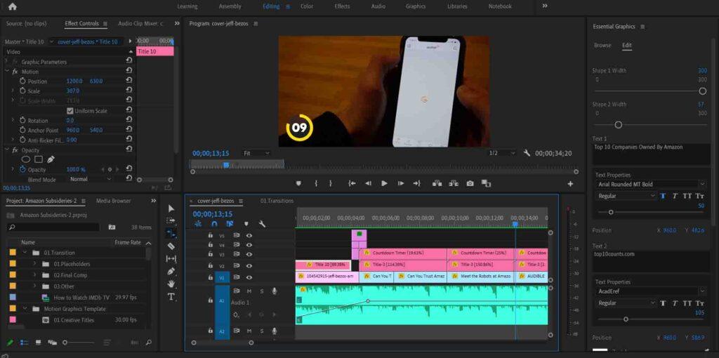 Adobe Premiere Pro Keyboard Shortcuts