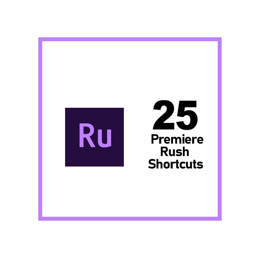 Adobe Premiere Rush Keyboard Shortcuts
