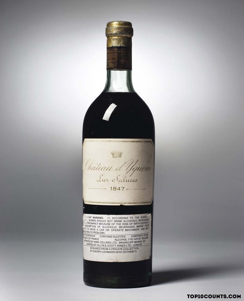 Most Expensive Wines in the World - top10counts